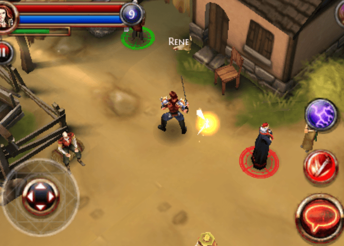 shot of Dungeon Hunter on the iPhone