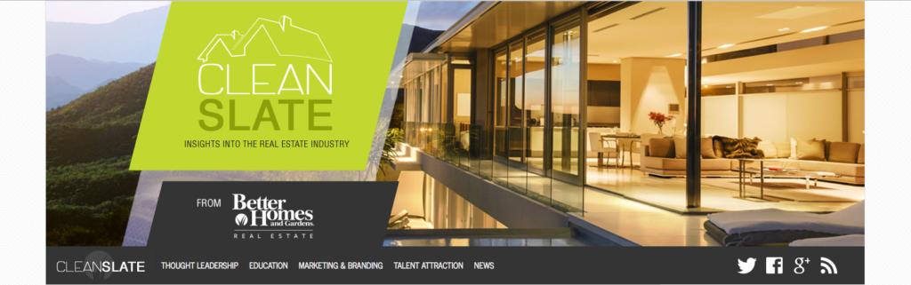 Best Real Estate Blog Three: Clean Slate
