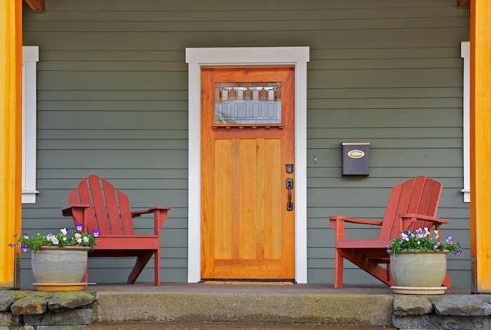 a photo of an updated front door to help sell your home