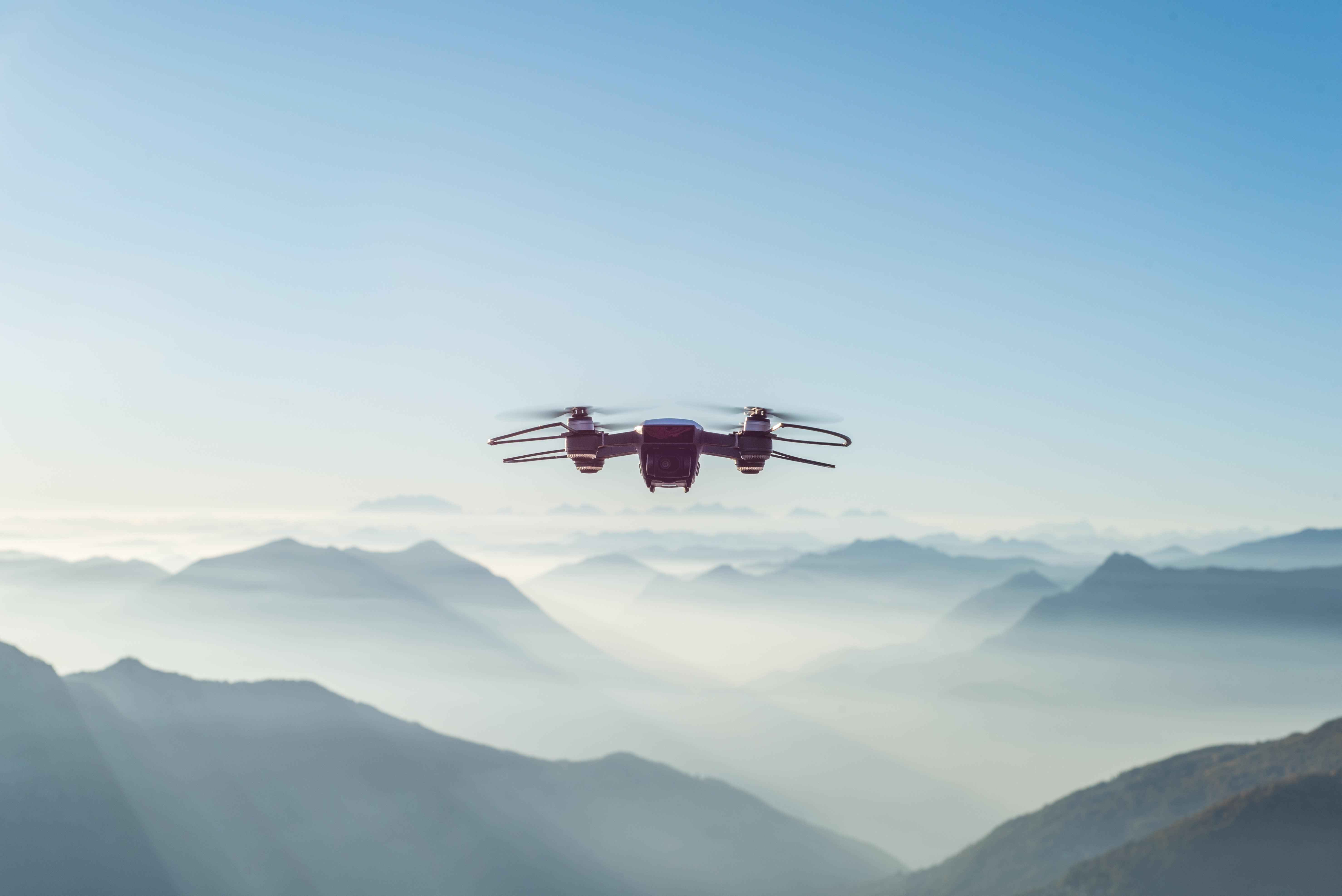 Drone shot mountain view