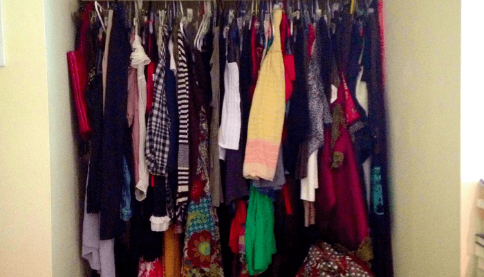 staging your home by decluttering closets