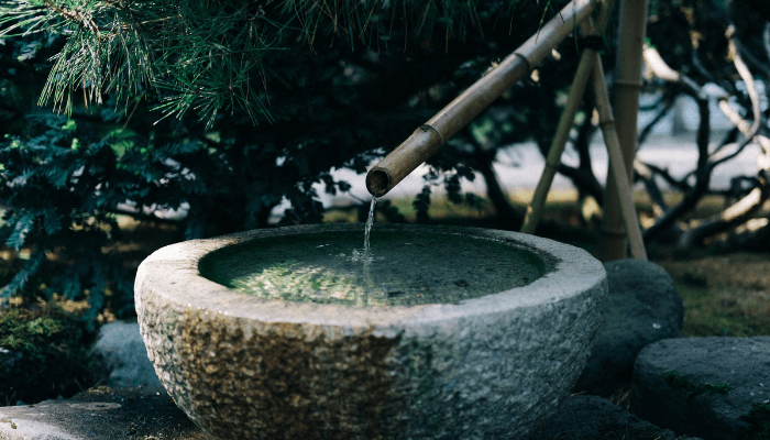 A water feature used to improve curb appeal.