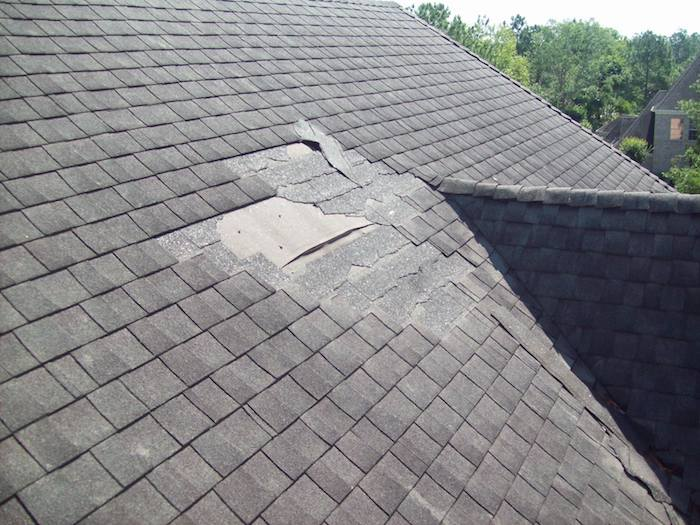 what home inspectors look for roof damage