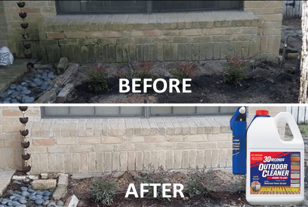 before and after outdoor cleaning