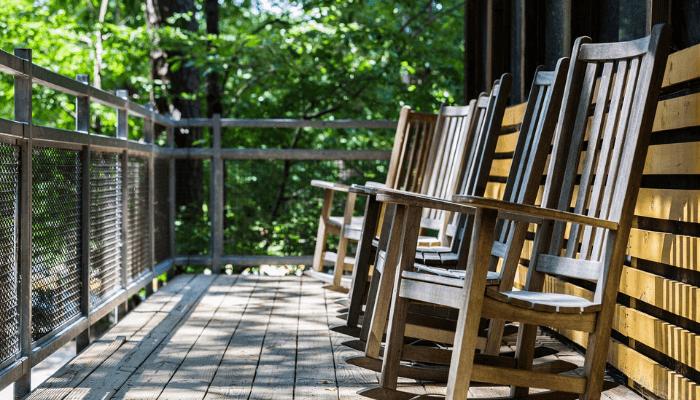 curb appeal ideas porch rocking chair