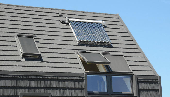 A solar skylight that increases value in a home.
