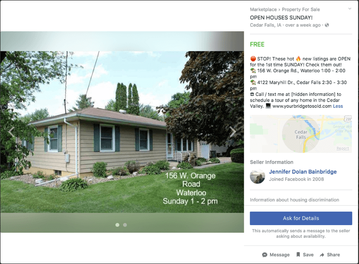 open house listing on facebook v2