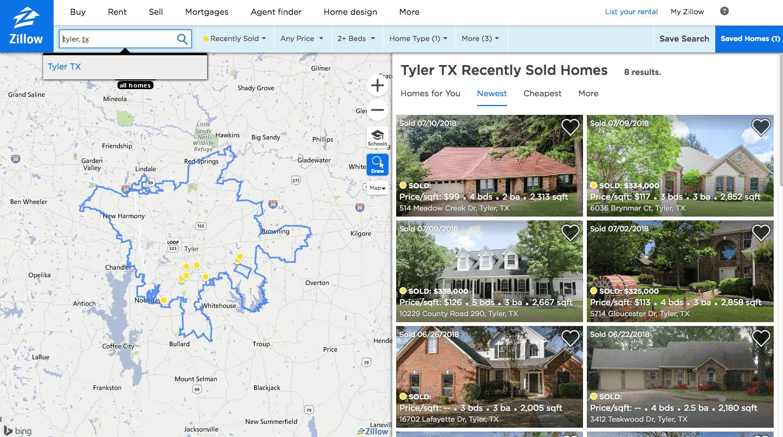 local real estate market comps search