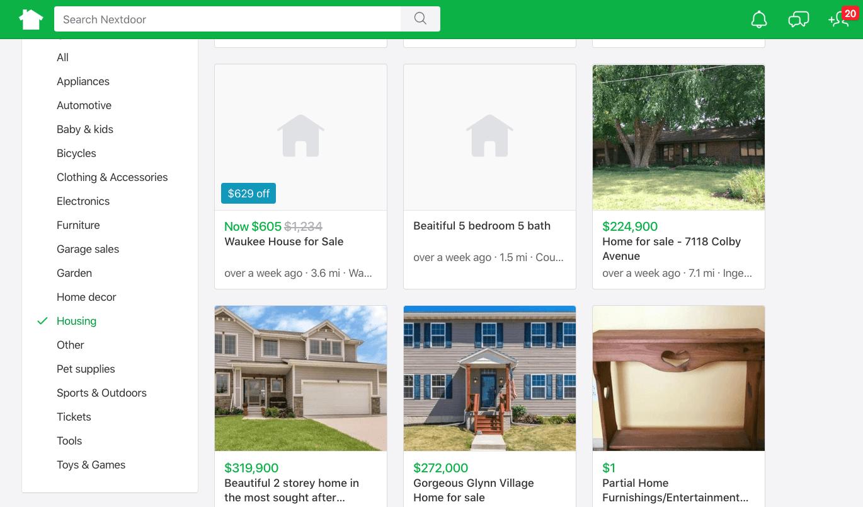nextdoor local real estate market