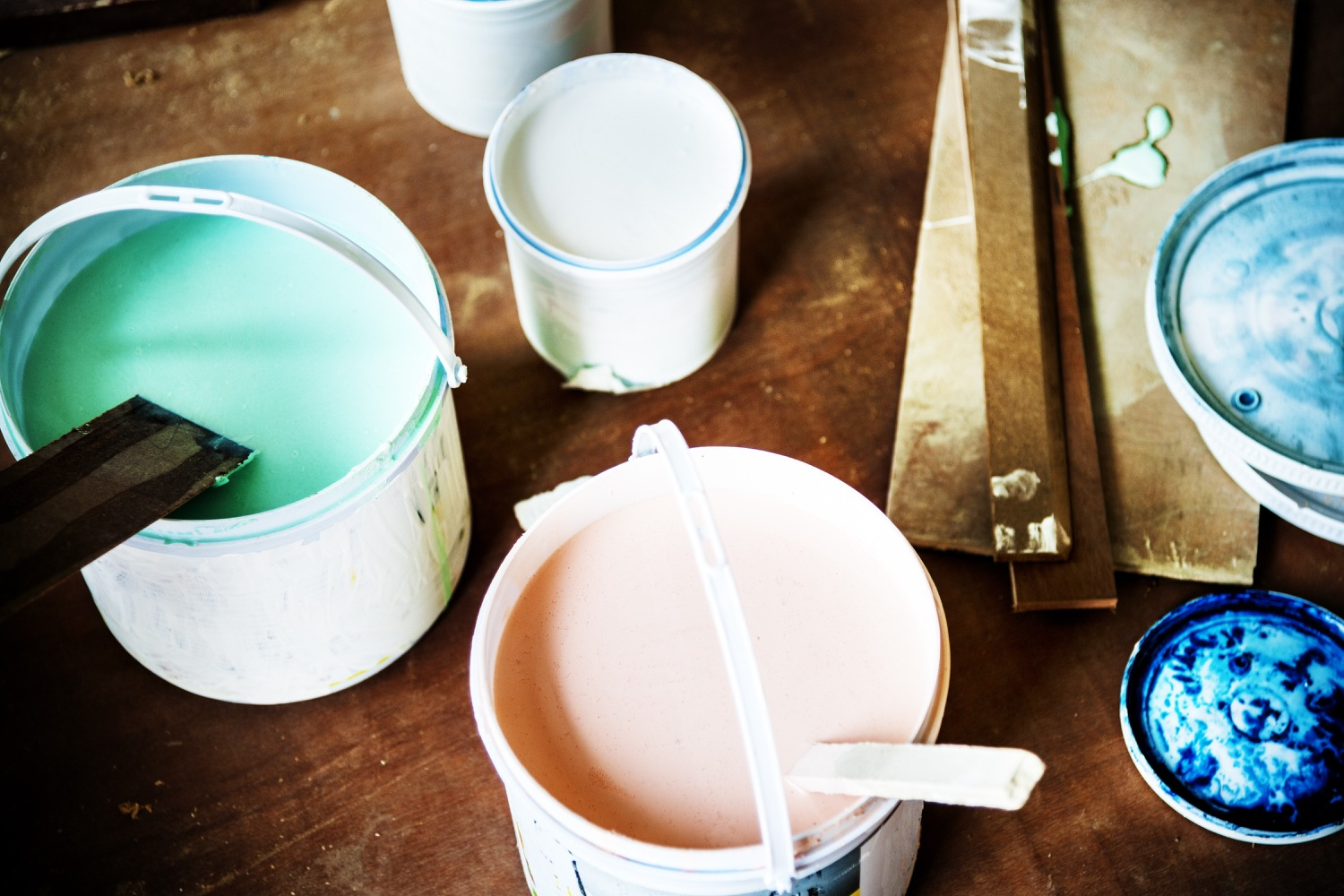 Paint colors used to help stage a home.