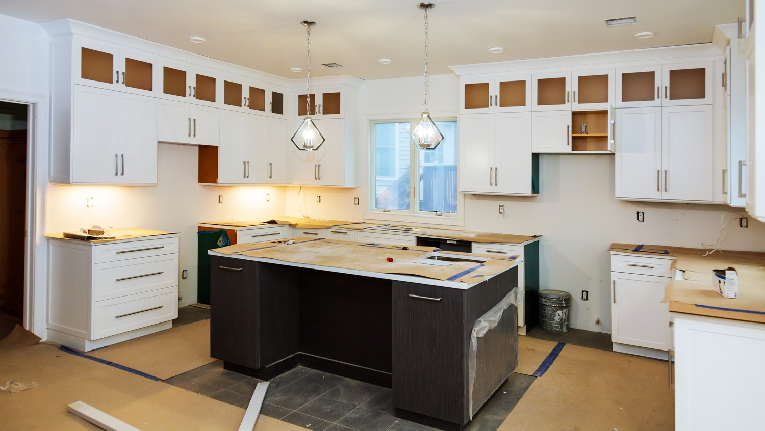 A kitchen with minor upgrades to increase home value.
