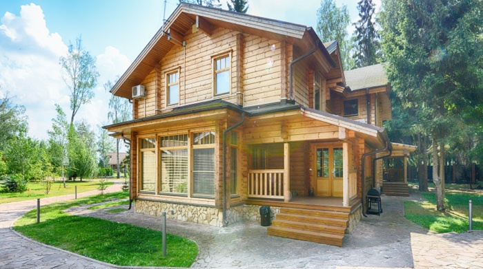 Wood siding on home with increased value.