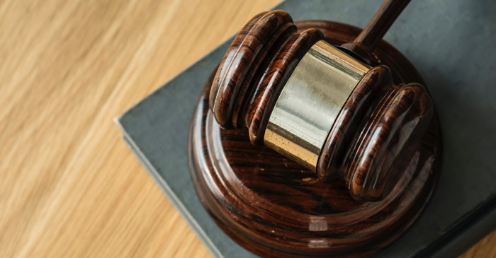 Gavel used in divorce court over real estate.