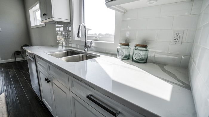 White Granite Countertops In A Home With Increased Value