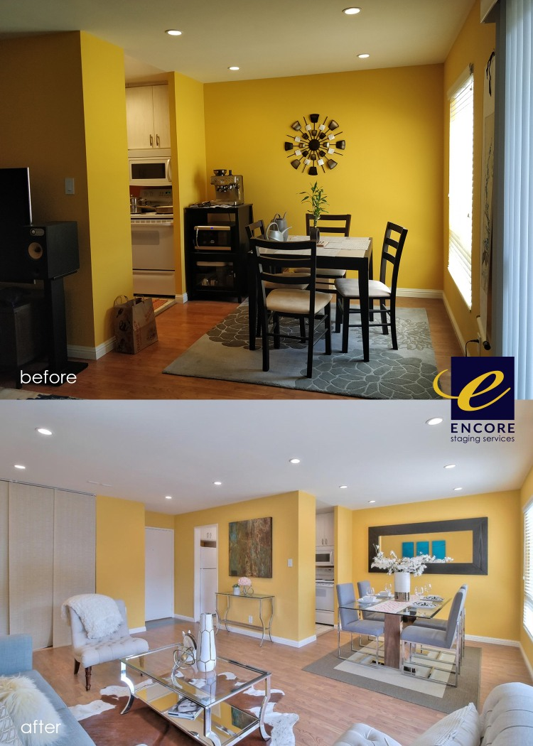 Before and after staging in home for an affordable cost.