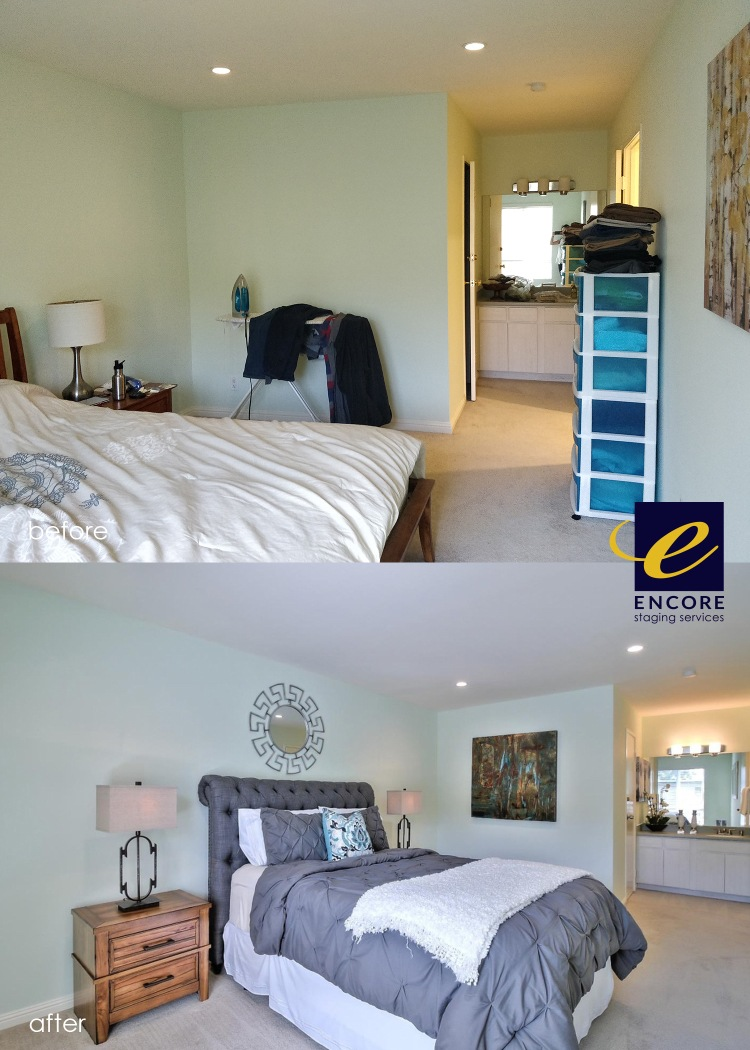 Before and after home staging.