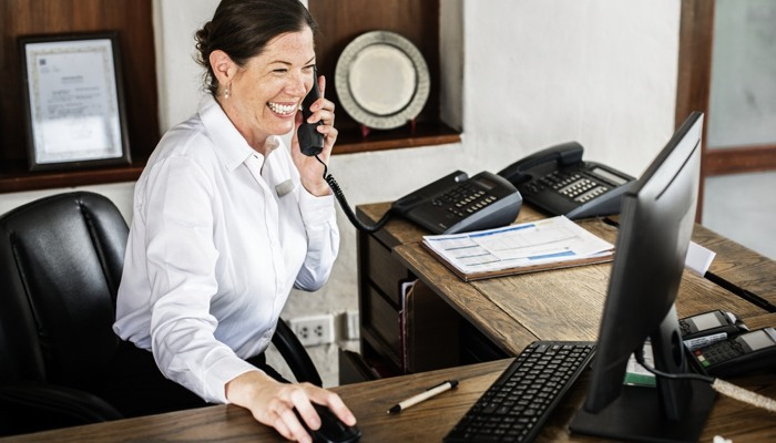 Customer service professional hired by a real estate investor.