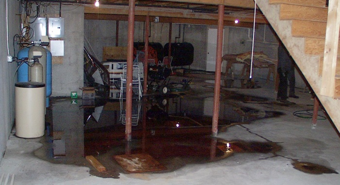 Leaky basement that would have to be disclosed in a real property transaction.