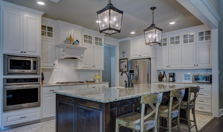 White kitchen in house for sale in Cincinnati.