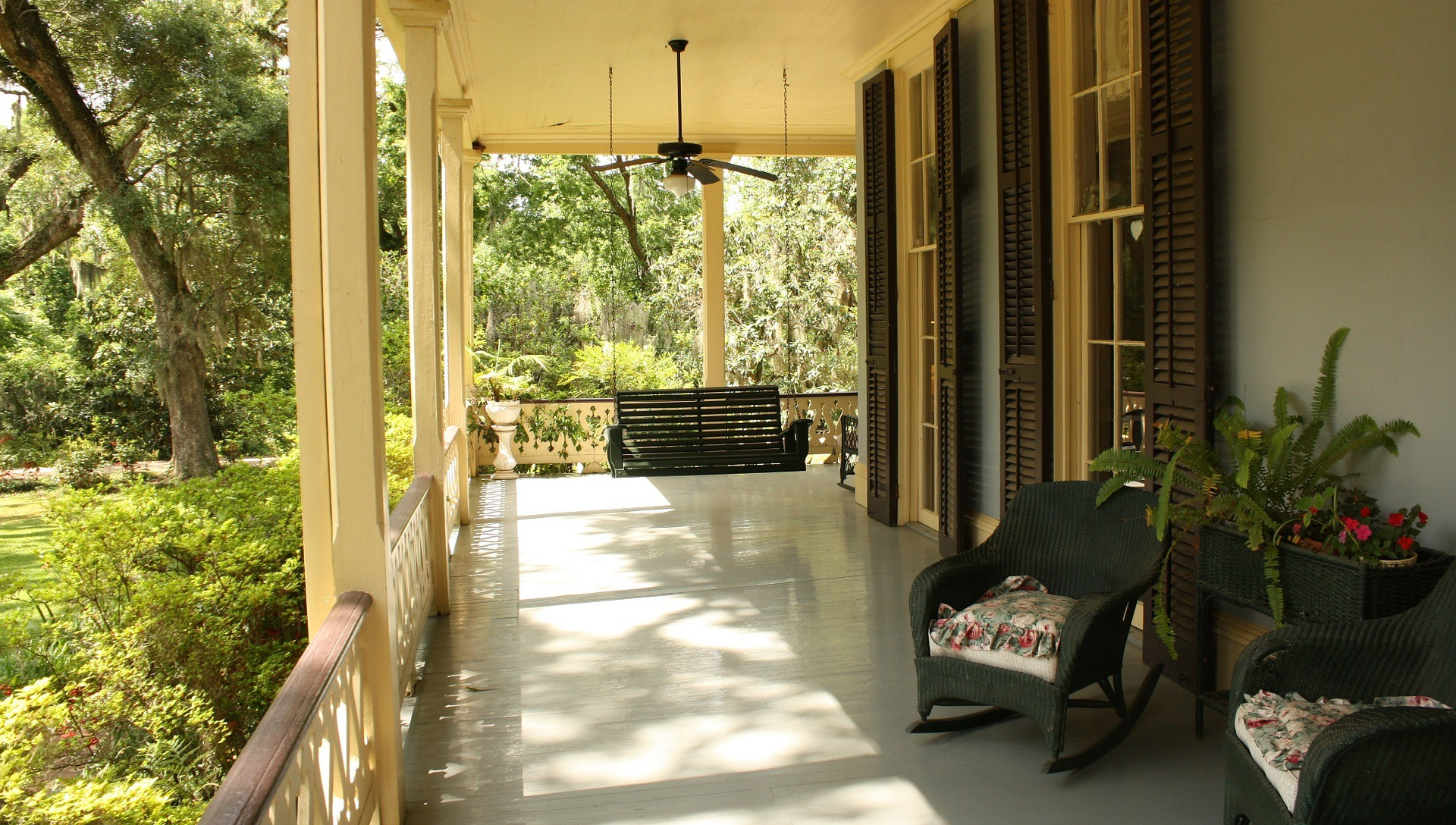 front porch during best time of day for open house