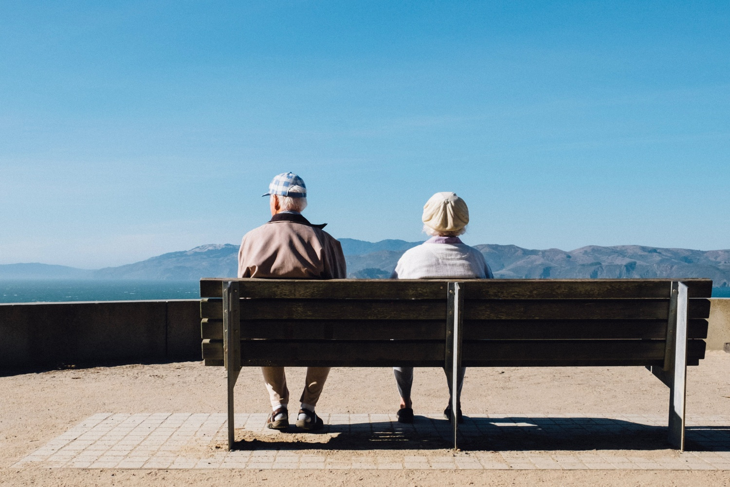 couple enjoying retirement and traveling after paying off mortgage