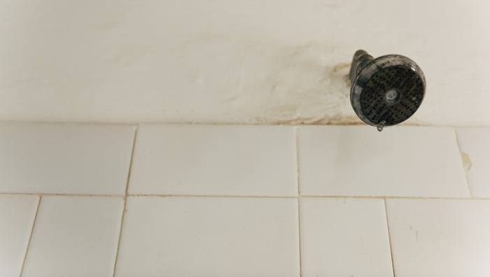 A shower head that is leaking before home appraisal.