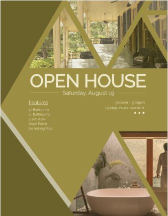 An open house flyer example.