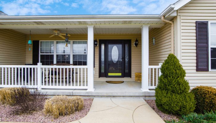 A porch with curb appeal.
