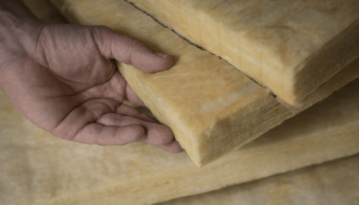 Insulation used to maintain a home in all seasons.