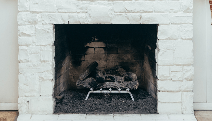 A fireplace in a home for sale in Nashville.