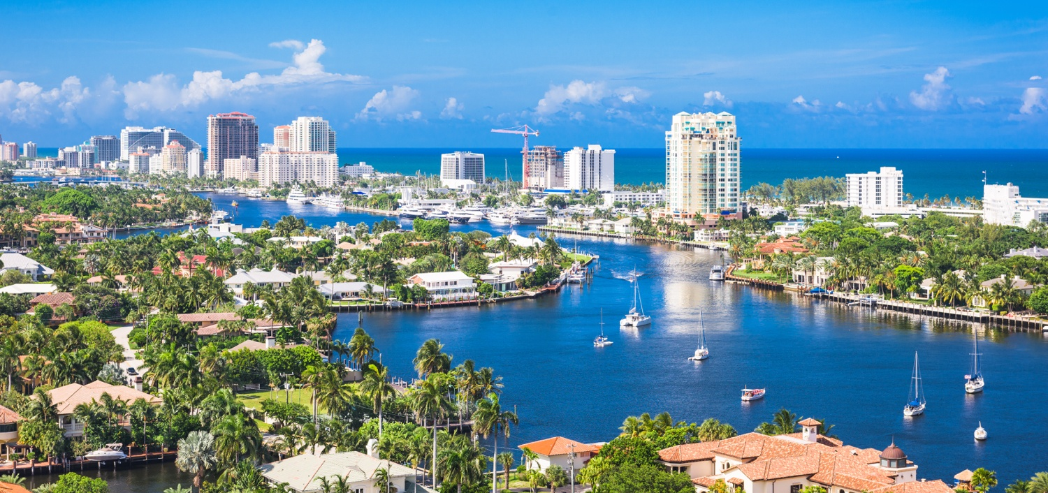 A fort Lauderdale skyline where you can find a top real estate agent.