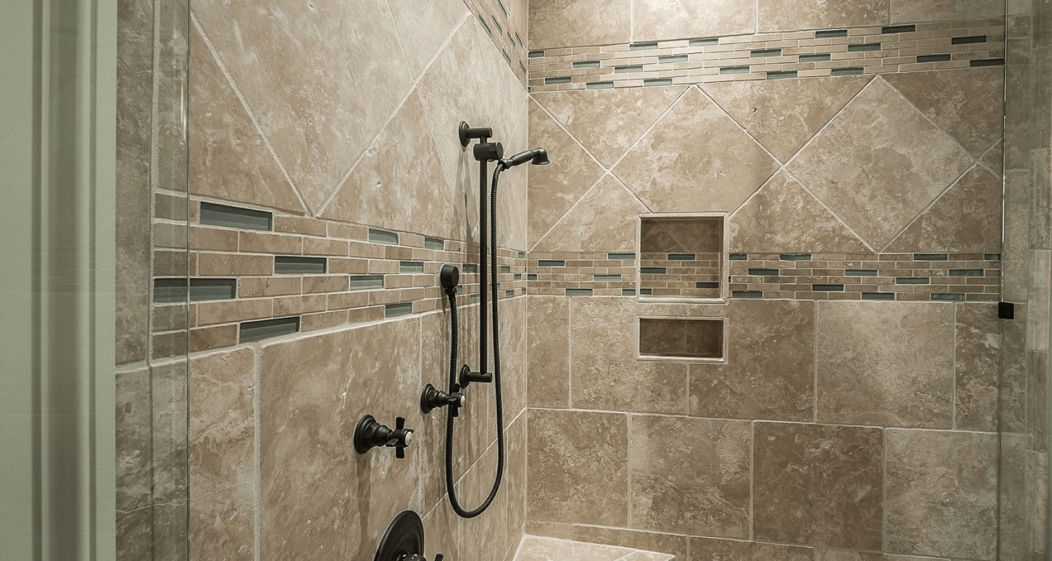 A shower that is an upgrade in a home and increases value.