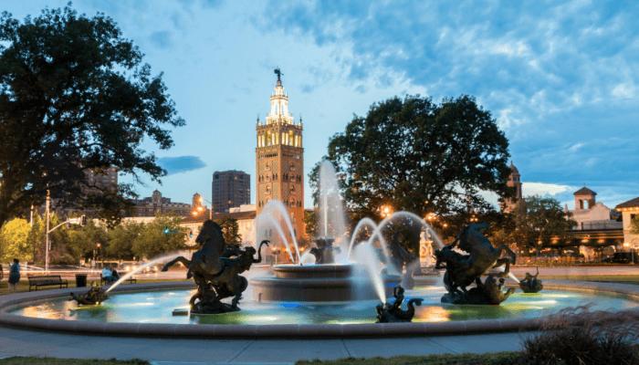 A Kansas City fountain where Queer Eye was filmed.