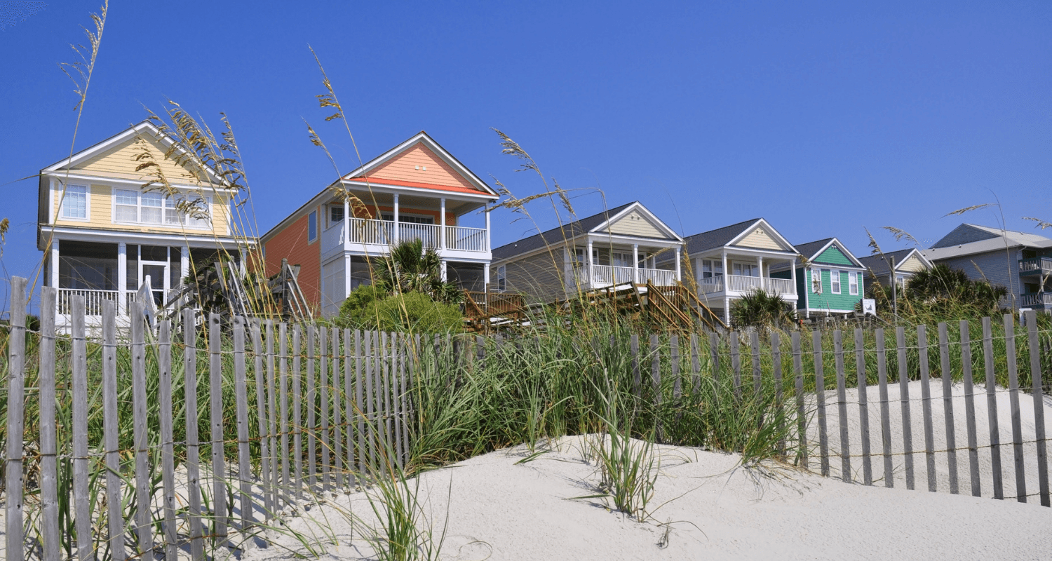 Retirement beach homes that were purchased before retirement.