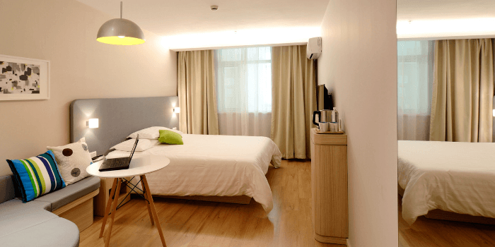 bedroom showing how to stage a house for photos