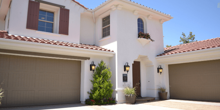 how to hide garbage cans outside- garage