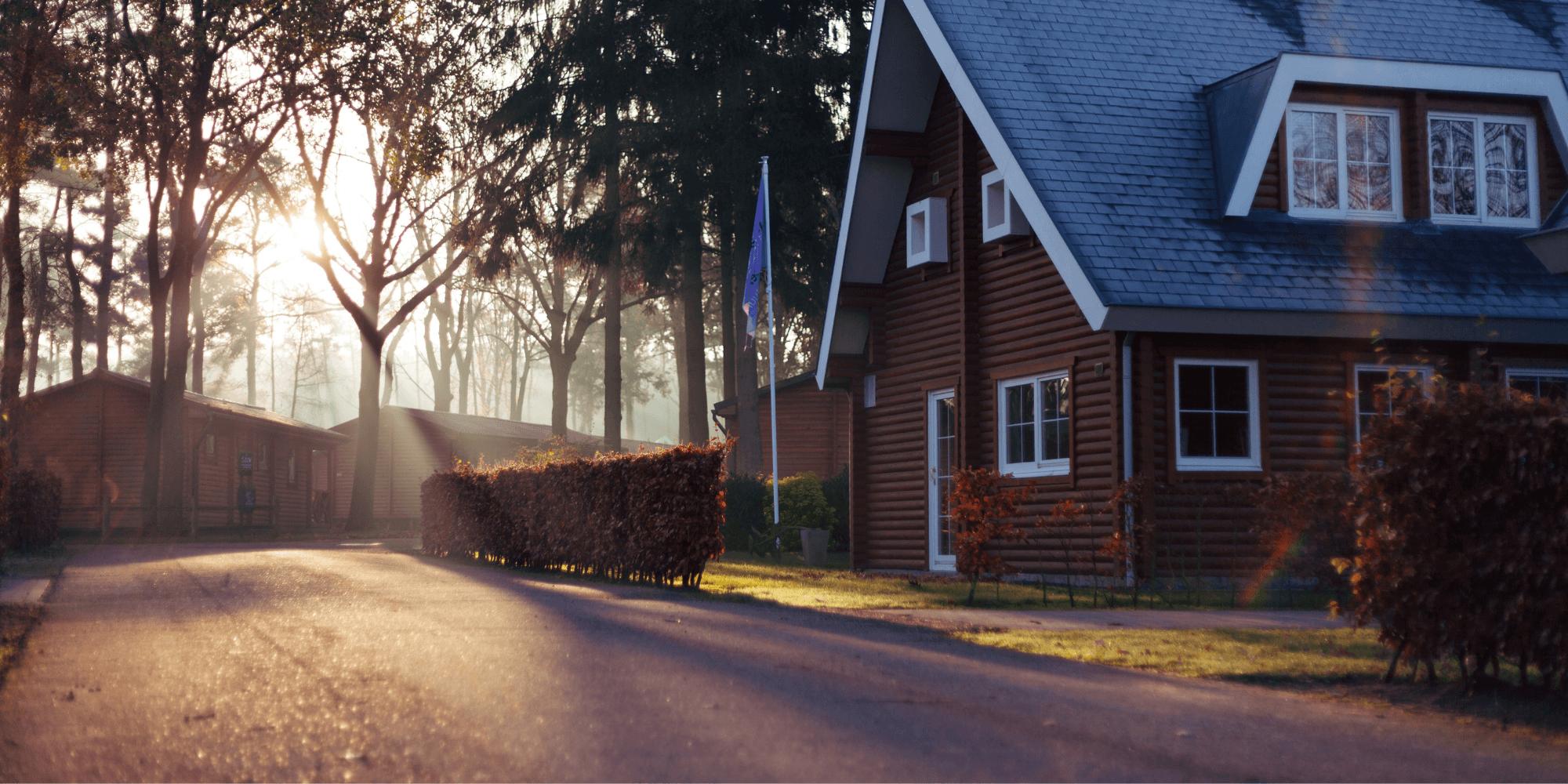 a family neighborhood house