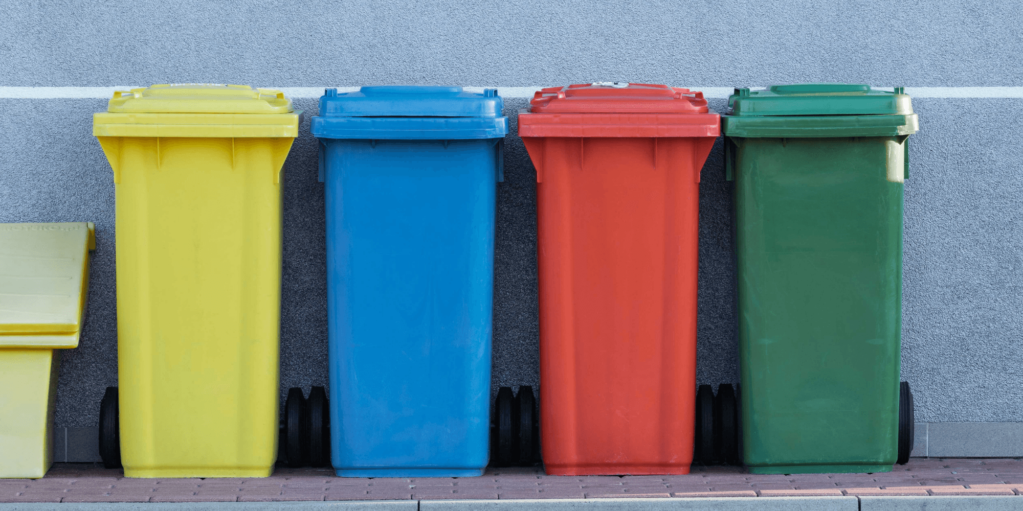 how to hide garbage cans outside - bins