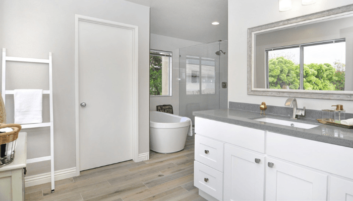 A remodeled bathroom that needed a certificate of occupancy.