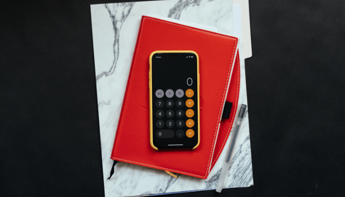 A calculator used to sell a house with a second mortgage.