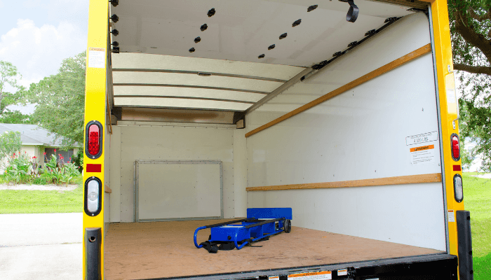A truck is the best way to move.