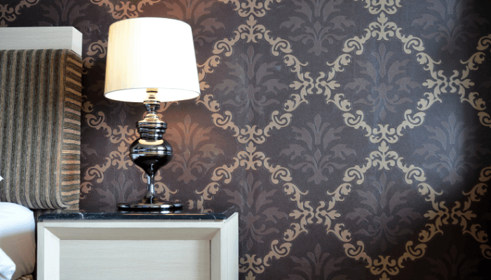 Wallpaper, which is a decorating trend to avoid before selling a house.