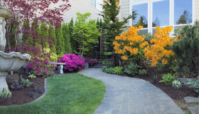 A walkway of pavers that increased home value.