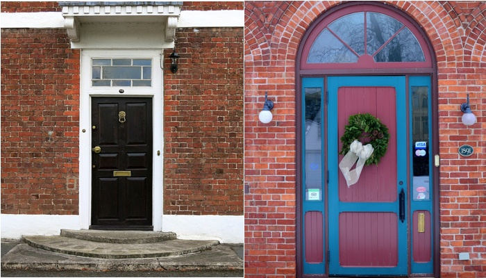 Front door colors for brick houses.