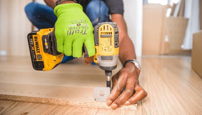 A handyman hired through a home improvement app.