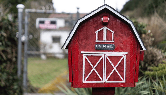 A themed mailbox with curb appeal.