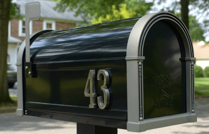 A post mailbox with curb appeal.