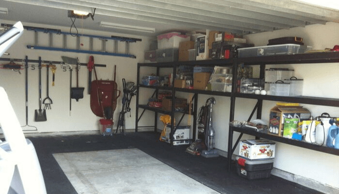 A finished garage with added value.