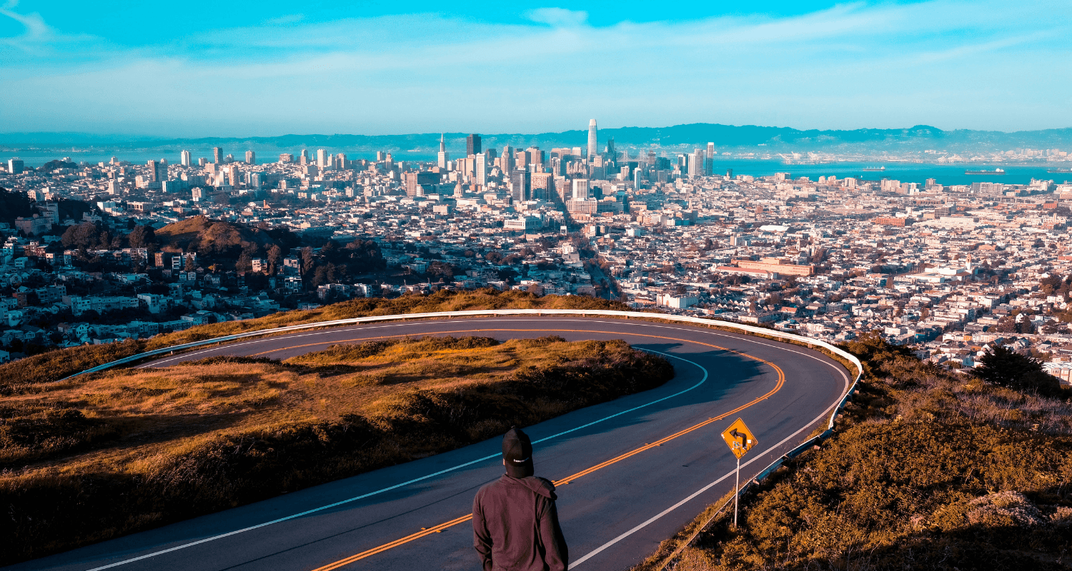 A California skyline where homes sell quickly.