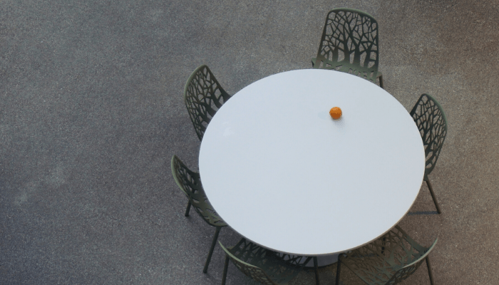 A table used to sell a parents home after death.